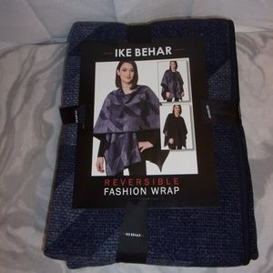 New Ike Behar Blue Gray Wrap